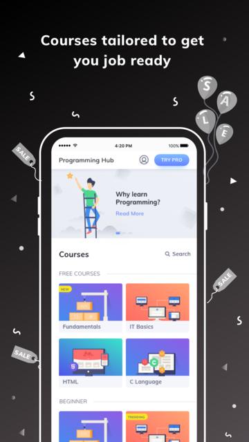 Programming Hub: Learn to code screenshot 10