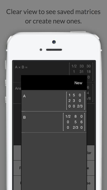 Matrix Calculator +    —Lite Version screenshot 2