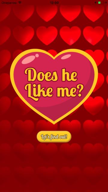 Does he like me? Love quiz to see if he likes you! screenshot 1