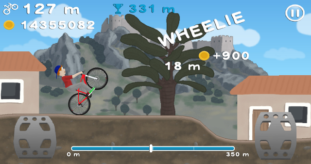 Wheelie Bike screenshot 1