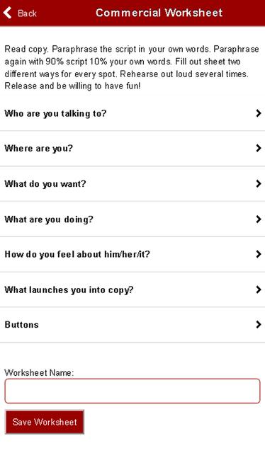 Commercial Worksheets screenshot 1
