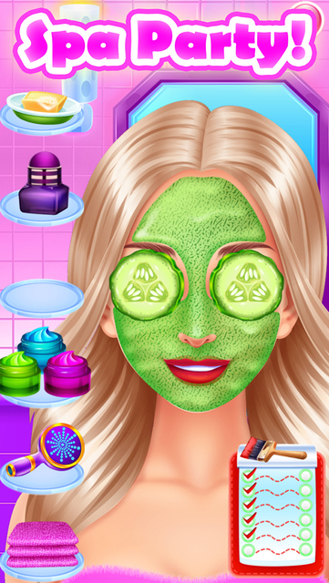 Face Paint Party Salon Games screenshot 15