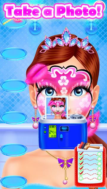 Face Paint Party Salon Games screenshot 47