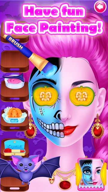 Face Paint Party Salon Games screenshot 50