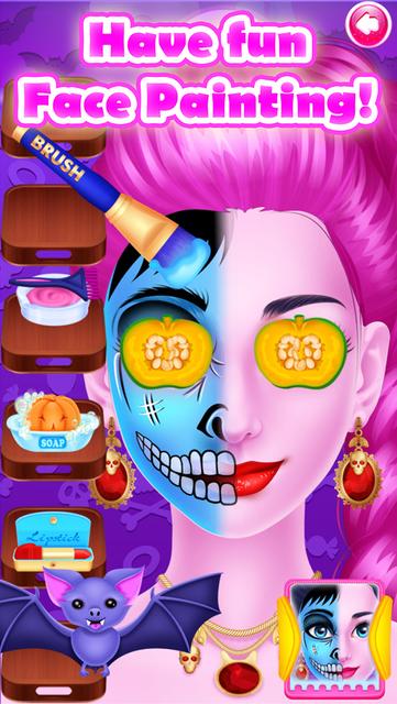 Face Paint Party Salon Games screenshot 60