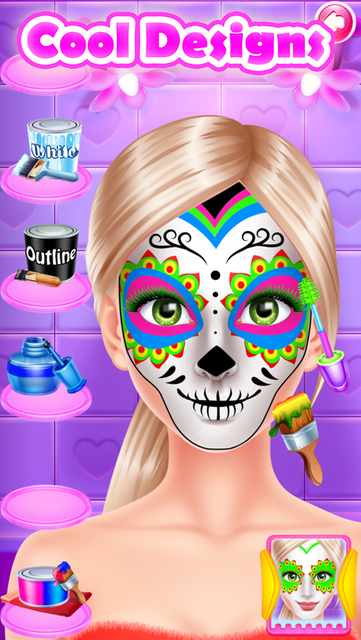 Face Paint Party Salon Games screenshot 73