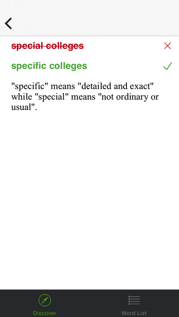 Common English Grammar and Vocabulary Mistakes screenshot 3
