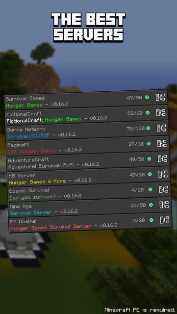 Hunger Games Servers for Minecraft PE (Online) screenshot 2