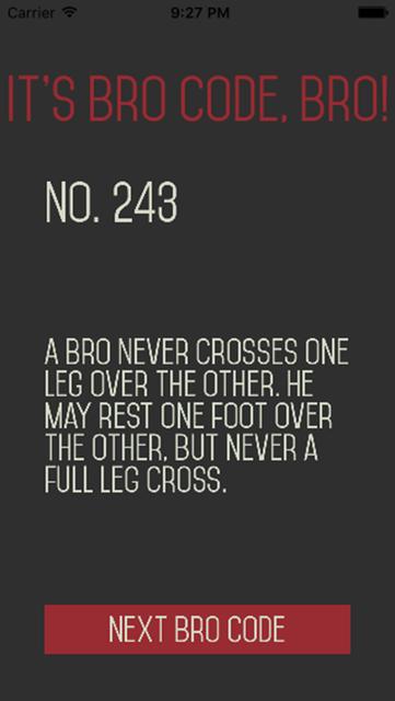 Bro Code Bro - BroBible! screenshot 5