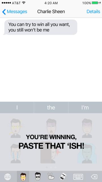 Sheenoji - The Charlie Sheen Keyboard screenshot 3