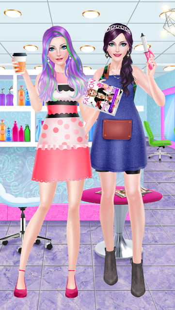 Hair Styles Fashion Girl Salon screenshot 5
