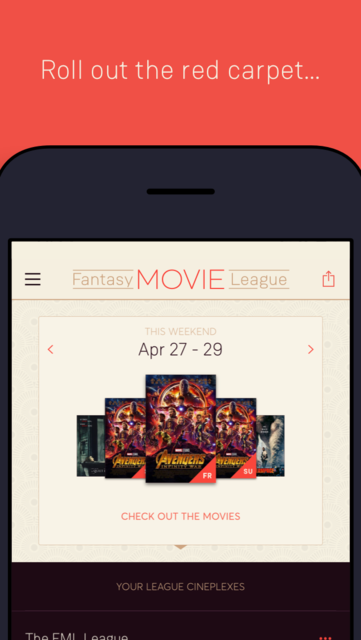 Fantasy Movie League screenshot 1