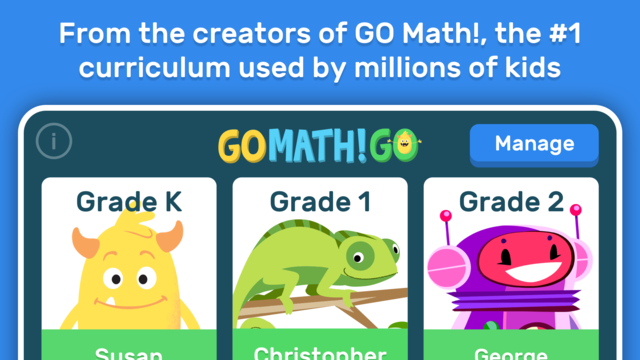 GO Math! GO – Fun learning for grades K, 1st & 2nd screenshot 1