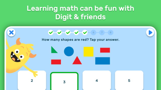 GO Math! GO – Fun learning for grades K, 1st & 2nd screenshot 2