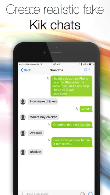 Prank for Kik - Create fake text messages to trick your friends and family screenshot 4