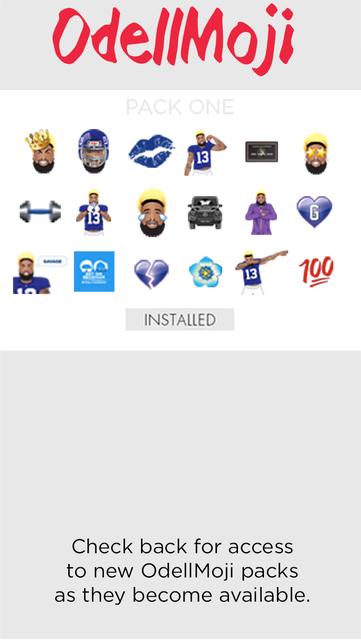 OdellMoji by Odell Beckham Jr. screenshot 2