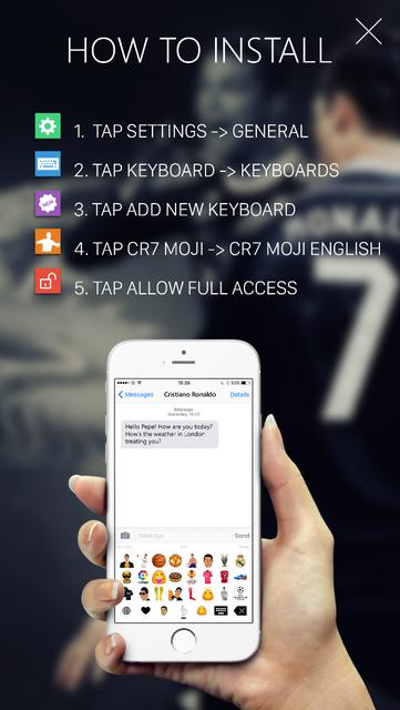 Keyboard Emoji - CR7 Edition screenshot 2