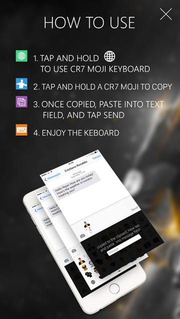 Keyboard Emoji - CR7 Edition screenshot 3