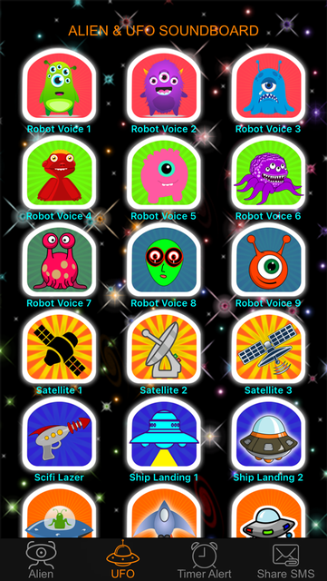 Alien Voice & UFO Soundboard Button: 90+ Sci-Fi Sound Effects of Robot Chatter & Space Flying screenshot 2