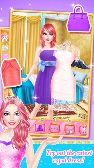 Princess Fashion - Royal Family Salon: SPA, Makeup & Makeover Game for Girls screenshot 4