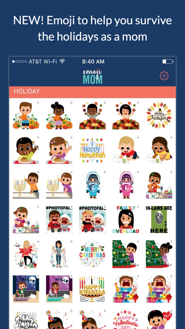 EmojiMom - An Emoji App for the Modern Mom screenshot 1
