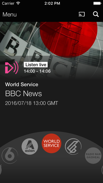 BBC iPlayer Radio screenshot 1
