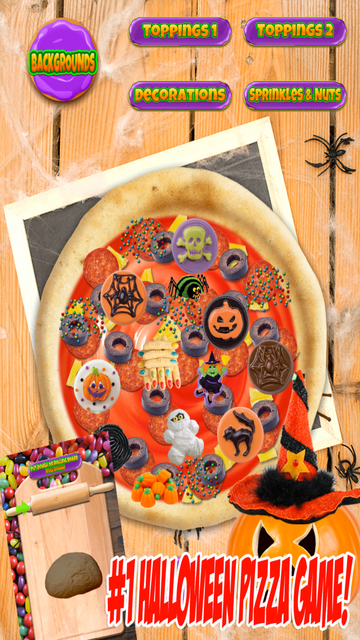 Halloween Candy Pizza Make & Bake - Kids Cooking Dessert Kitchen Boys & Girls Game screenshot 3