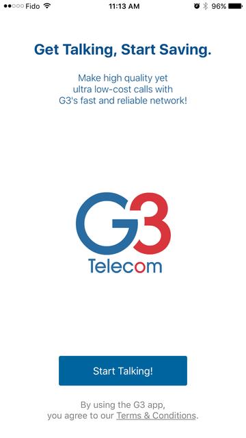 G3 - International Calling App screenshot 1