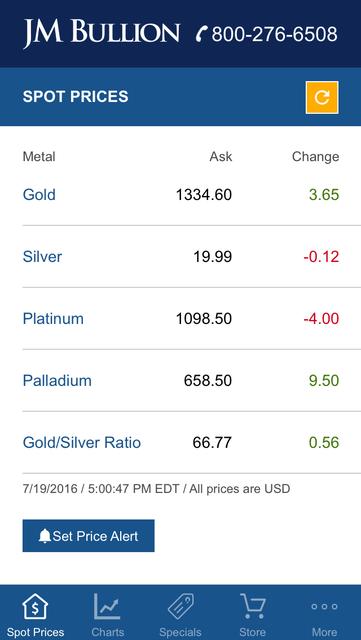 Gold & Silver Spot JM Bullion screenshot 6