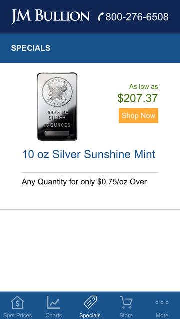 Gold & Silver Spot JM Bullion screenshot 8
