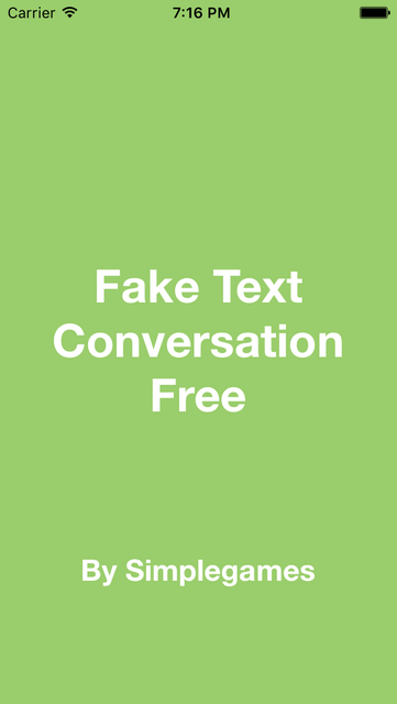 Fake A Text Conversation FREE for iMessage Edition - Create Fake Text and Fake Messages screenshot 3