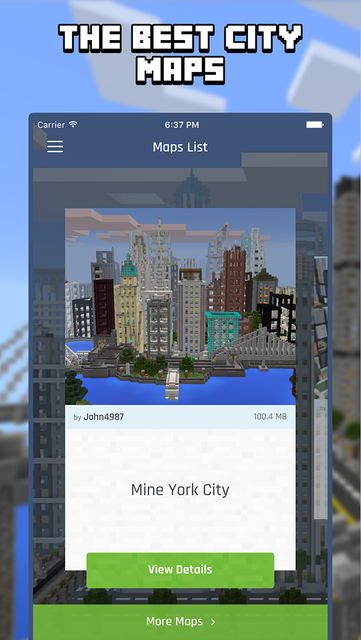 City Maps for Minecraft PE - Best Minecraft Maps screenshot 1