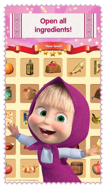 Masha and the Bear: Food Games screenshot 2