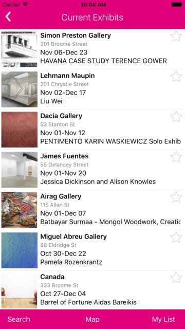 NYC Galleries screenshot 6