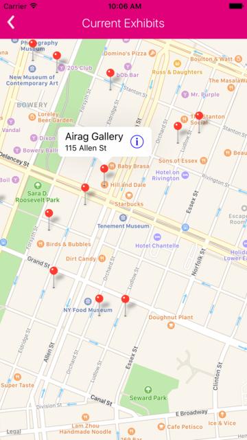 NYC Galleries screenshot 7