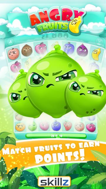 Angry Fruits 1 VS 1 Puzzle : Real Money Gaming screenshot 5