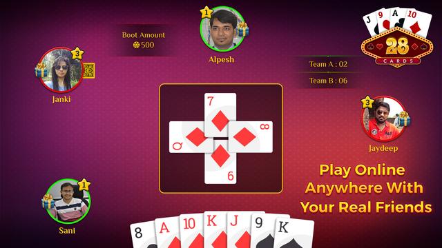 28 Card Game Multiplayer screenshot 1
