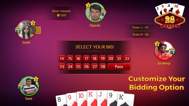 28 Card Game Multiplayer screenshot 2