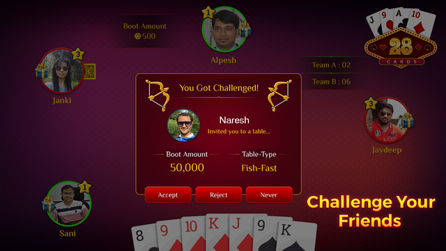28 Card Game Multiplayer screenshot 3