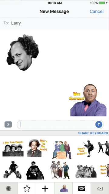 STOOGEMOJIS - The Official Three Stooges Emoji App screenshot 3