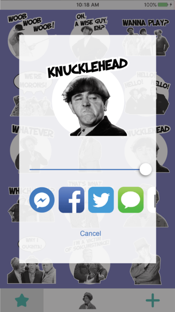STOOGEMOJIS - The Official Three Stooges Emoji App screenshot 4