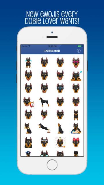 DobieMoji: Emojis for Doberman Pinscher Lovers! screenshot 1