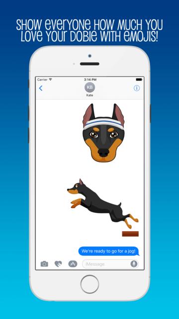 DobieMoji: Emojis for Doberman Pinscher Lovers! screenshot 3