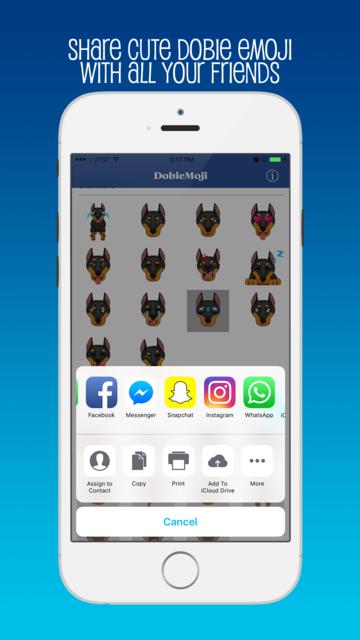 DobieMoji: Emojis for Doberman Pinscher Lovers! screenshot 4