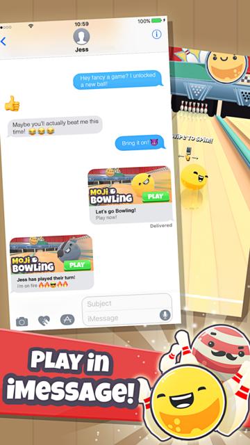 Moji Bowling screenshot 1