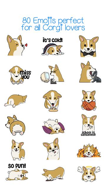 CorgMoji Corgi Emoji Stickers screenshot 4