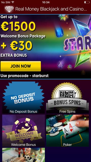 Real Money Blackjack and Casino Games screenshot 1