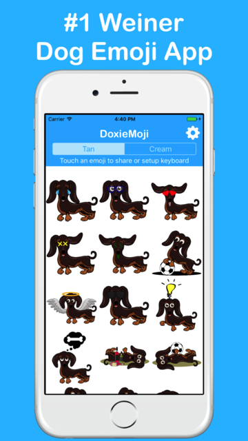 DoxieMoji - Dachshund Love Weinermoji & Stickers screenshot 5