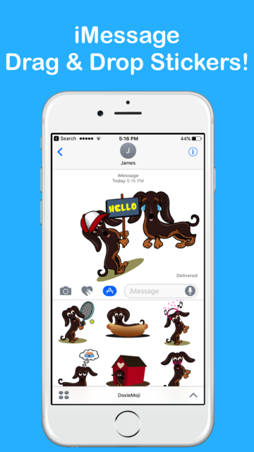 DoxieMoji - Dachshund Love Weinermoji & Stickers screenshot 6