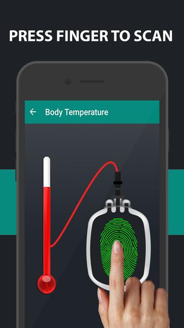 Finger Body Temperature Prank -Scan Blood Pressure screenshot 1